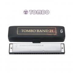 톰보 밴드21홀 트레몰로 하모니카 G조