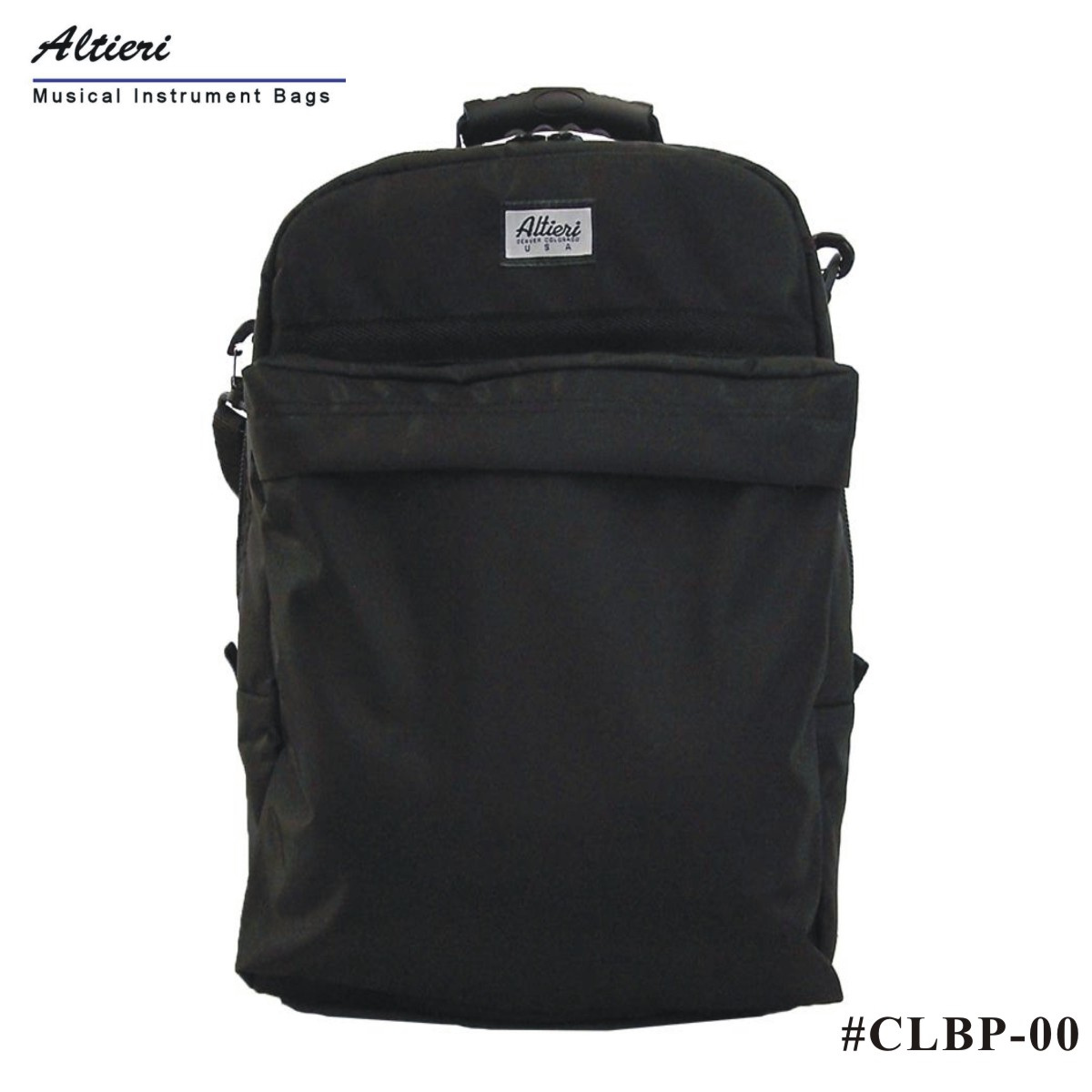 알티에리 가방 Altieri 클라리넷 랩탑 백팩 - 블랙